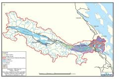 Cowichan Watershed - Mapped Aquifers. The coloured areas (aquifers) also tend to show areas of highest population density.